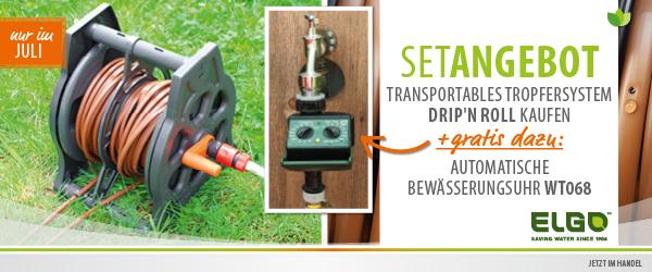 Tröpfchenbewässerung inkl. automatischer Bewässerungsuhr