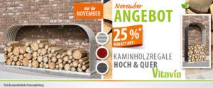 November Banner Kaminholzregal Hoch&Quer