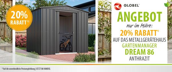 Metall-Gartenhaus Dream zu Sonderpreis im März