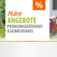Vitavia Gewächshaus und Gartenhaus Werbung März